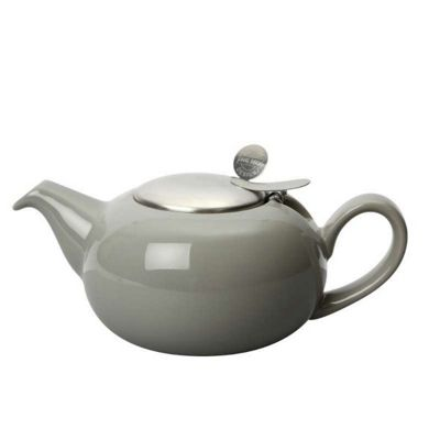 London Pottery Pebble Filter Teapot 1.1 Litres 4 Cup in Gloss Light Grey