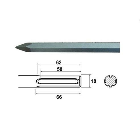 Faithfull Point 380 mm. Kango Shank (914112)