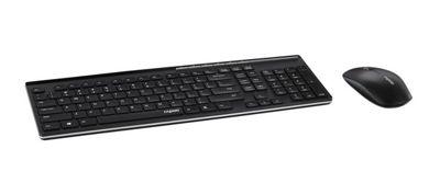 Rapoo X8100 2.4GHz Wireless Desktop Combo Set (Black) UK Layout