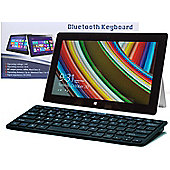 Navitech - Ultra Slim Black Wireless Bluetooth Keyboard For All iOS, iPad, Android, Mac, & Windows Devices