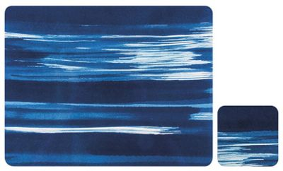 Ladelle Wade Blue Placemats & Coasters, Set of 4
