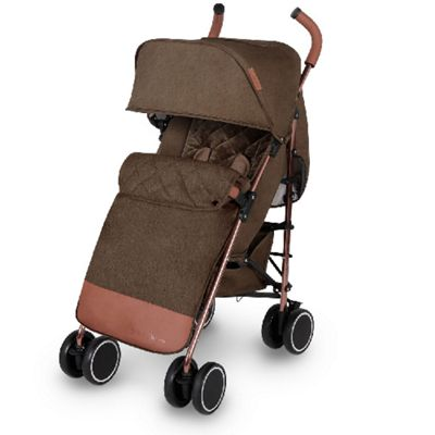 Ickle Bubba Discovery Max Stroller Khaki on Rose Gold Frame