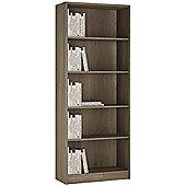 Kensington Tall Wide Bookcase Grey Oak