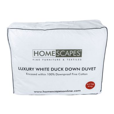 Luxury White Duck Down 9 Tog King Size Duvet