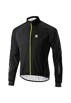Altura Peloton Waterproof Cycling Jacket - Black & Yellow