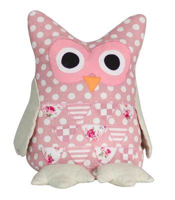 Pink Polka Dot Owl Door Stop