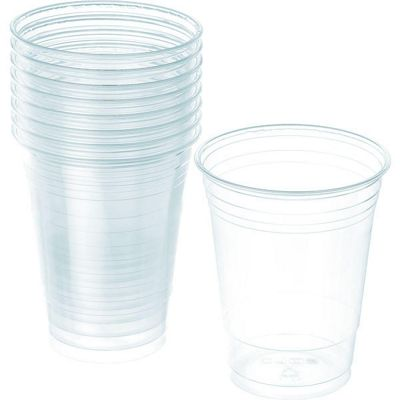 Clear Cups - 473ml Plastic Party Cups - 50 Pack