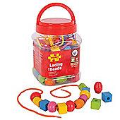 Bigjigs Toys Jar of Lacing Beads