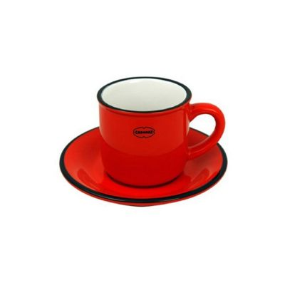 Cabanaz Espresso Cup & Saucer in Scarlet Red