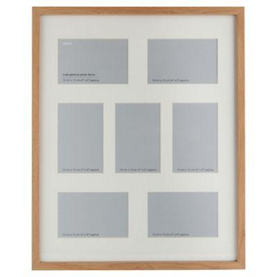 Buy Basic Oak Effect 7-Photo Frame from our All Frames range - Tesco