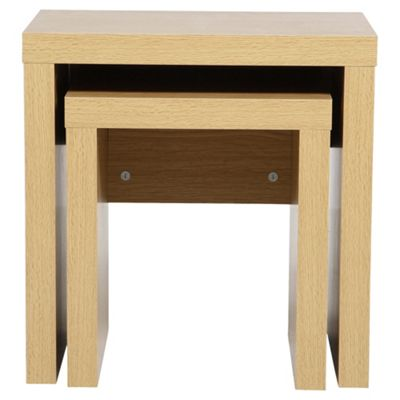 Buy tribeca 2 nest of tables oak from our nest of tables range tesco tribeca 2 nest of tables oak watchthetrailerfo
