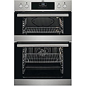 AEG DEB331010M Built-In Double Electric Oven Fan Oven Stainless Steel