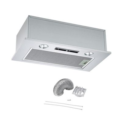 Cookology BUCH520SS Integrated Extractor Fan | 52cm Built-in Cupboard Canopy Cooker Hood & Ducting Kit