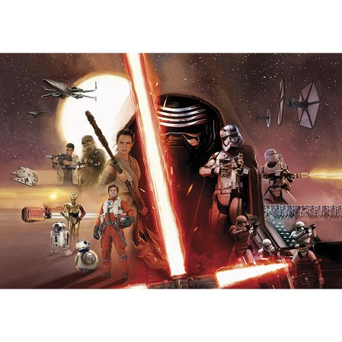 Star Wars EP7 Episode VII Collage Wallpaper Mural 368 x 254cm