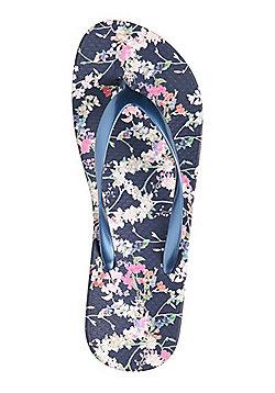 F&F Floral Print Flip Flops - Pink
