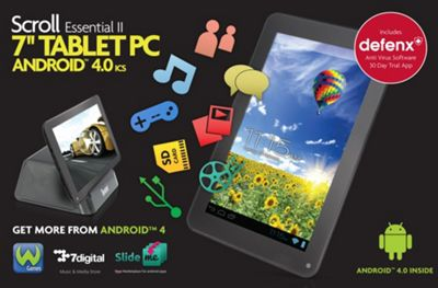 Storage Options Scroll Essential II (7 inch) Tablet PC with Android 4.0 Capacitive