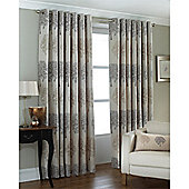 Riva Home Oakdale Eyelet Curtains - Silver