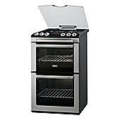 Zanussi ZCG552GXC, 550mm, Stainless Steel, Gas, Double Oven