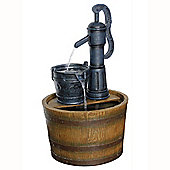 Pump Barrel Garden Water Feature - Brown / Dark Grey