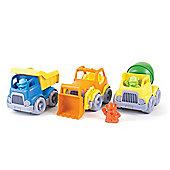 Green Toys Construction Trucks Set - Dumper, Scooper, Mixer
