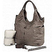OiOi Tote Nappy Change Bag - Stone Textured Linen Slouch Tote (7008)
