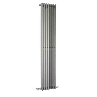 Hudson Reed Fin Vertical Single Panel Designer Radiator 1500mm x 304mm High Gloss Silver