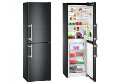 Liebherr CNbs3915 60cm NoFrost Fridge Freezer in Black Steel