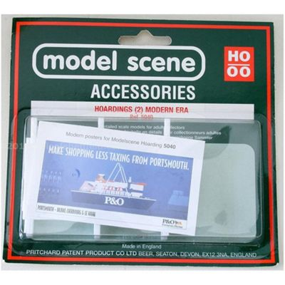 Model Scene Accessories OO/ ho Hoardings (2) - Modern Era