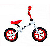 "New 1080 Childs 12"" 3 Spoke Mag Wheels Balance Training Bike White / Red"