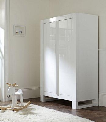 Tutti Bambini Rimini Wardrobe - Gloss White Finish