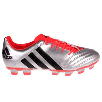 adidas Incurza Rugby TRX Firm Ground Mens Rugby Boot Silver/Red, UK 8