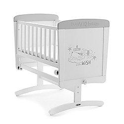 OBaby Winnie the Pooh Dreams & Wishes Gliding Crib (White with Grey Trim)