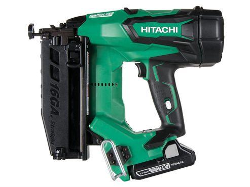 Hitachi Cordless 16G Straight Finish Nailer 18 Volt 2 x 3.0Ah Li-Ion