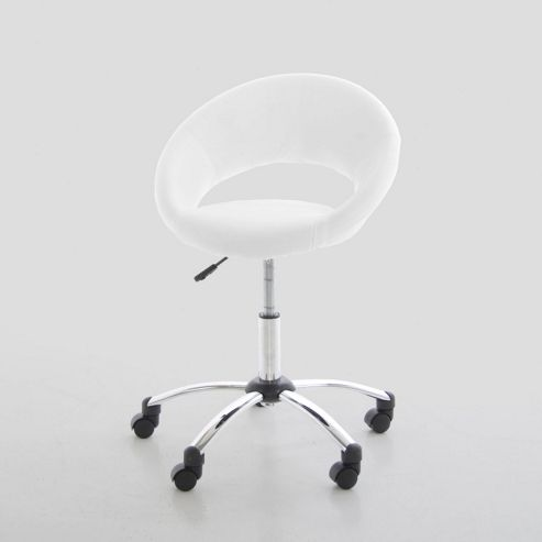Actona Round Office Chair in Black