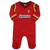 Wales WRU Rugby Baby Sleepsuit - 2016/17 Season - Red