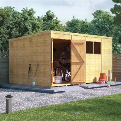 BillyOh Expert Tongue and Groove Windowed Pent Workshop 14x8