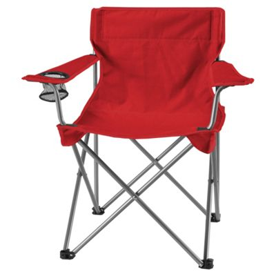 Tesco Red Folding Camping Chair
