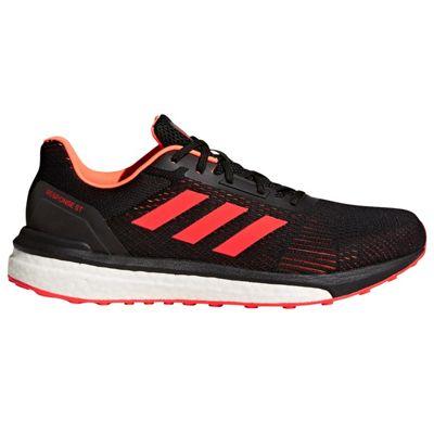 adidas Response ST Structured Mens Running Trainer Shoe Black/Red - UK 11
