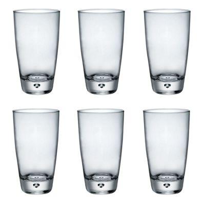 Bormioli Rocco Luna Clear Bubble Base Cooler Glasses - 450ml - Pack of 6