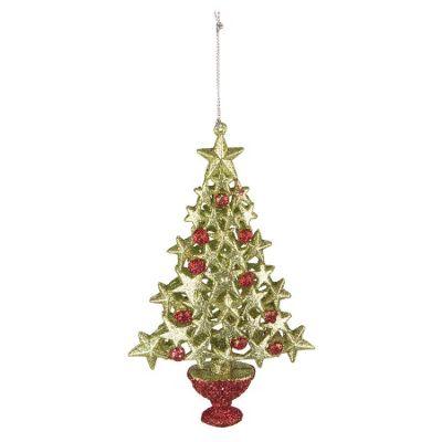 Glitter Star Tree Christmas Tree Decoration