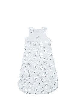 F&F Nordic Print 2.5 Tog Jersey Sleepbag - White
