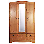 Steens Milford 3 Door 5 Drawer Wardrobe Pine