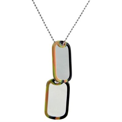 Urban Male Double Dog Tag Men's Necklace In Stainless Steel