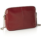 Poppy Red Leather Gold Chain Shoulder Hand Bag