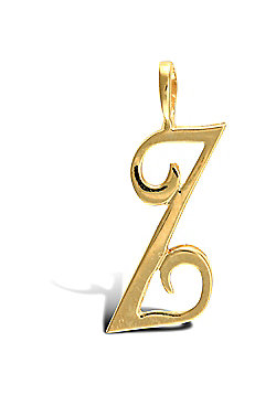 Jewelco London 9ct Gold Script Initial ID Personal Pendant, Letter Z -1.4g