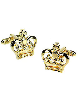 Gold Crown Novelty Themed Cufflinks
