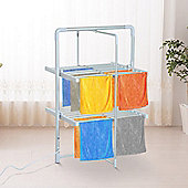 Homcom Electric Cloth Airer Warmer Portable Aluminium Frame w/ Folding Function