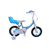 "Concept Princess 12"" Wheel Bike Girls Bike Blue Dolly Baby Seat"