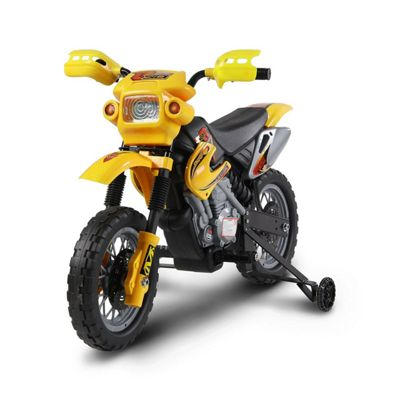 Kids Electric 6V Battery Power Ride On Motorcycle - Yellow