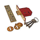 UNION 2134E BS 5 Lever Deadlock - 67mm PL KD Boxed